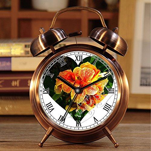 Alarmklok wekker, retro draagbare Twin Bell naast wekker met Nightlight 147 Download gratis afbeelding licentie CC-by 4.0