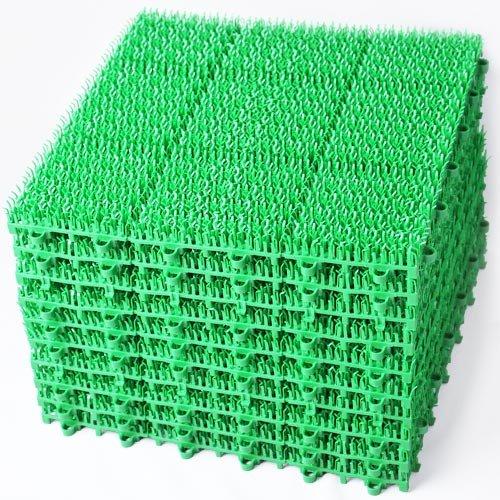 ◎人工芝 ジョイントマット [type-E] 日本製 30cm角 60枚(A690-60)