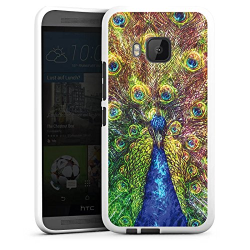 DeinDesign Silikon Hülle kompatibel mit HTC One M9 Hülle weiß Handyhülle Tiere bunt Malerei