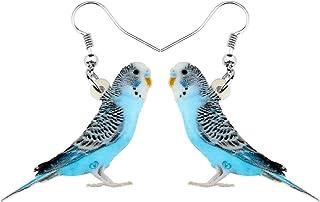 Bonsny Acrylic Drop Dangle Sweet Bird Earrings Jewelry For Women Girls Kids Gift Charms accessories