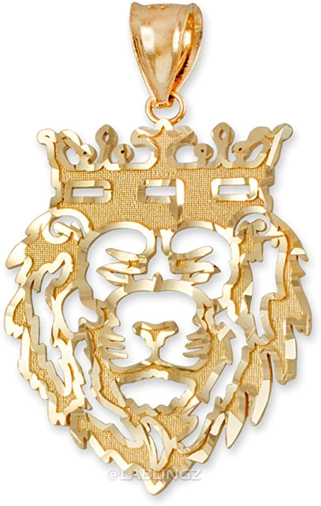 Hip-Hop Jewelry by LA BLINGZ 10K Yellow Gold Lion King DC Pendant (S/L)