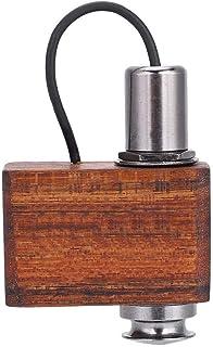 RiToEasysports Adeline Mini Contact Pickup, Recogida con micrófono Partes Sándalo Accesorio para Instrumentos Musicales para batería Guitarra Práctica y desempeño para violín portátil