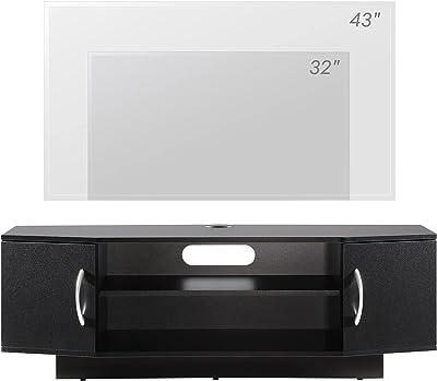 WAMPAT テレビ台 テレビボード テレビラック TVボード ローボードTV台 幅100×奥行29.5×高さ33cm 24型~45型テレビ対応可能 AV機器対応 収納スペース付き 斜面にカットしたデザイン 組立簡単 棚調整可能 ブラック黒W01U3102B TS-JP