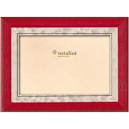 Christmas NATALINI Italian Handcrafted Wood Picture Frame 4x6 Red with marble