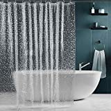 SPARIN Duschvorhang [180x200cm], PEVA wasserdichter Badvorhang mit 12 Ringen, [Anti-Schimmel] [Anti-Bakteriell] [Umweltfre&lich] [Waschbar]