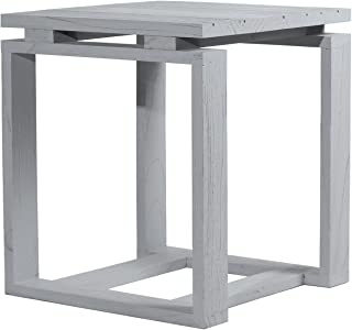 Asta Solid Wood Stool, Side Table, Flipper Collection, GF-101/GRY (Gray)