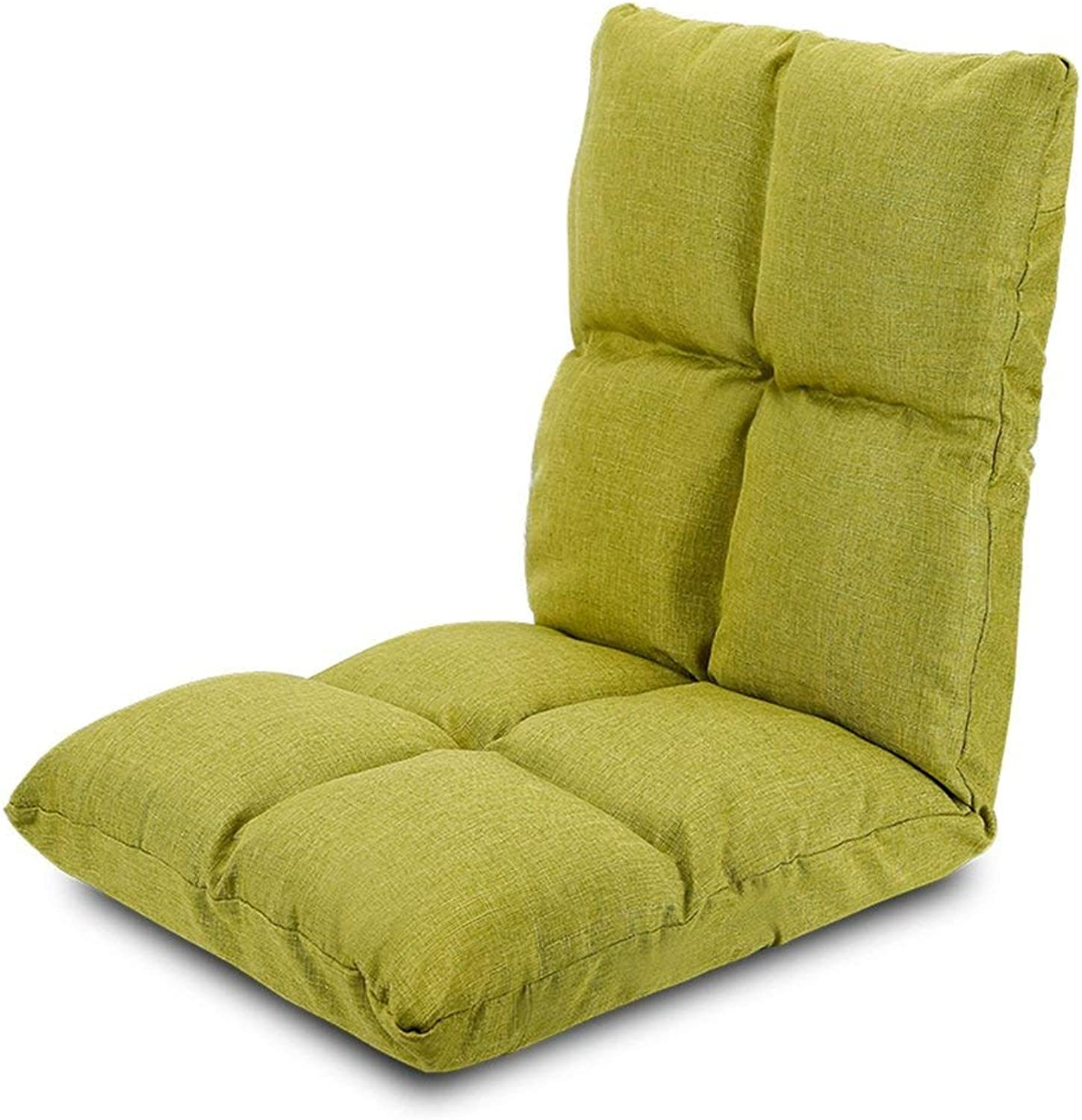 Lazy Dormitory Bed Back Mini Sofa (color   Green)