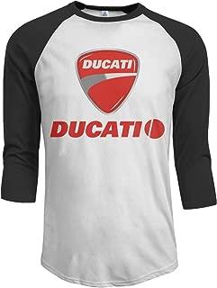 T-Shirt for Men Ducati Logo Vintage 3/4 Sleeve Tee