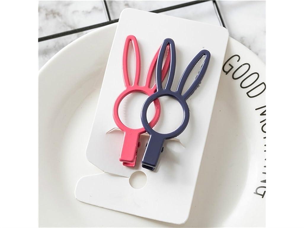 受付原稿間違っているOsize 美しいスタイル ウサギとクラウンヘアクリップ子供用サイドクリップヘアアクセサリー(ウサギカラーランダム)