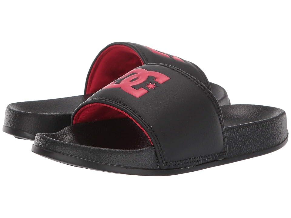 DC Kids DC Slide (Little Kid/Big Kid) (Black/Red) Boys Shoes