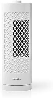 Nedis - Ventilador de Torre para Escritorio - Altura de 30 cm - 3 Velocidades - Oscilación - Blanco