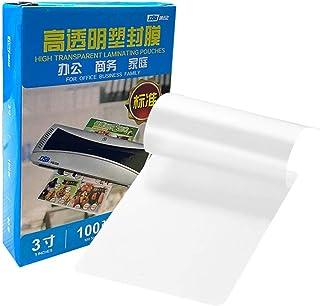 "Goolsky DSB 80mic 3"" Laminating Film Clear Sheet EVA Bond for Photo Paper Laminating Home Studio Office Supply100 Sheets"