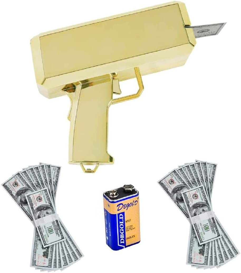 Kevide Money New product type Gun Gold Playing Shooter Paper Guns Brand Cheap Sale Venue