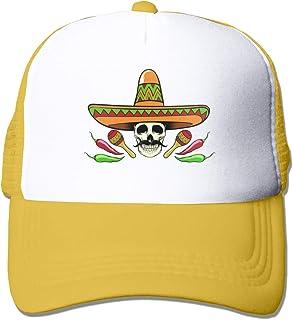 XNLHQH IJ Mexican Skull Baseball Cap Adjustable Outdoor Mesh Cap Trucker Dad Hat