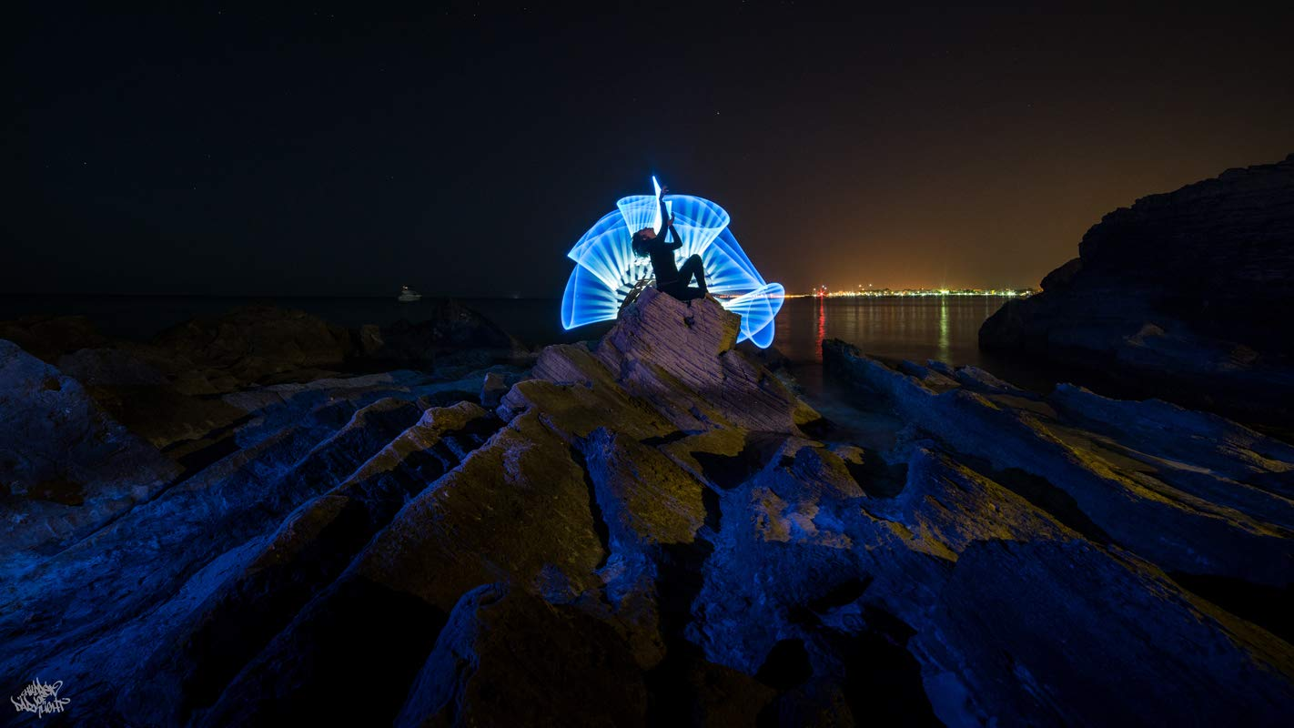 Herramienta Light Painting fotograf/ía Lightpainting Paradise plexy Tube Top