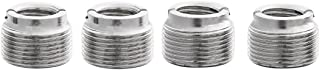 Boseen 5/8-Inch Male to 3/8-Inch Female Mic Screw Adapter (Pack of 4)