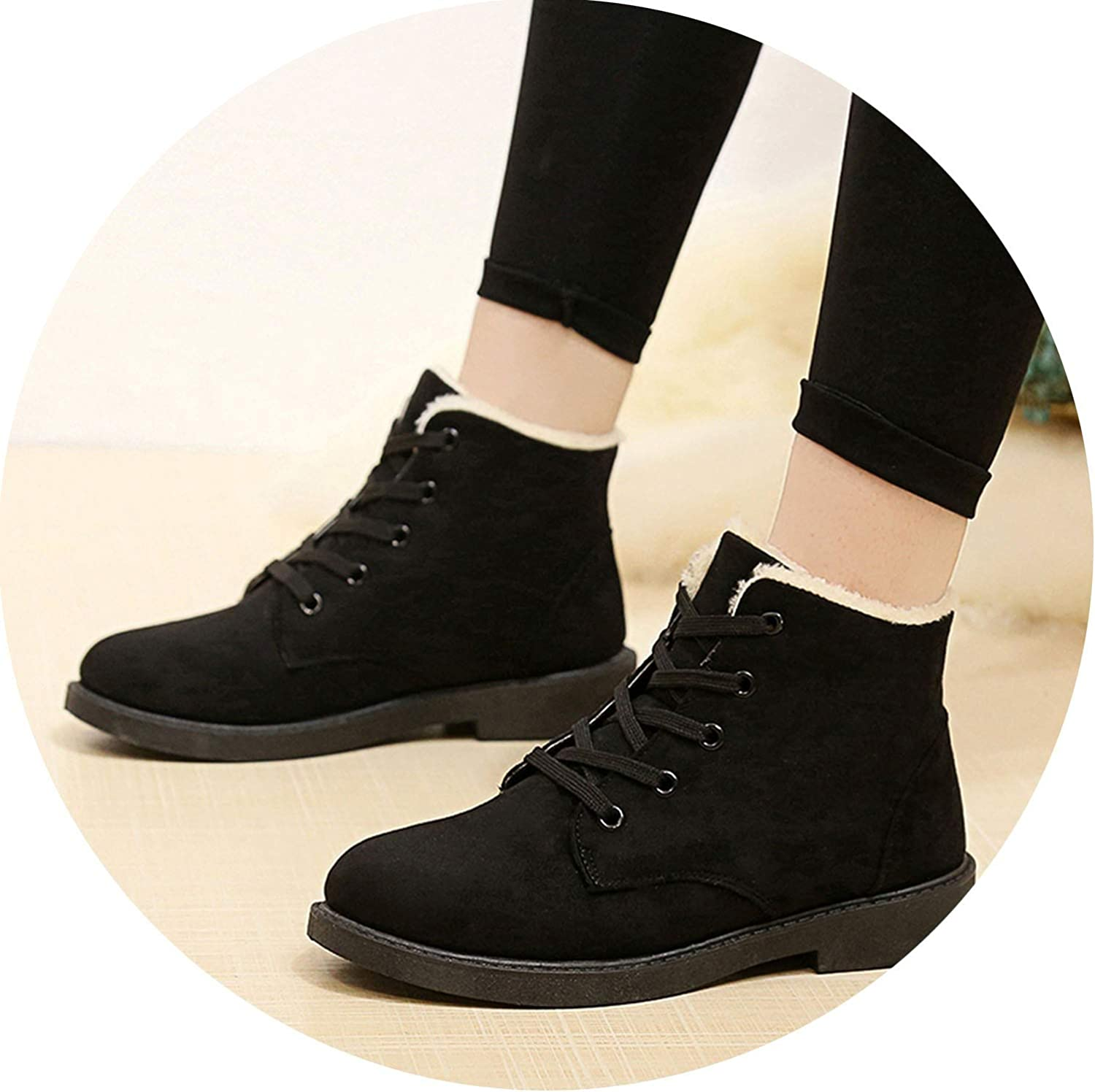 Snow Walking Boots Fur Barefoot shoes Wearable Sneakers Hightop Outdoor shoes Black