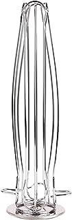 Soporte de c/ápsulas de caf/é de metal de alta calidad Soporte de galjanoplastia cromada Bastidor de almacenamiento de c/ápsulas de caf/é para 18 piezas C/ápsula Dolce Gusto,Plata