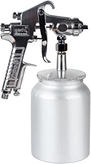 Gedu High Pressure Spray Gun with 1000cc Cup, 3.0mm Nozzle, sliver