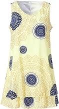 CANAFA Women's Dress Casual Plus Size Dot Print Midi Dress Loose Shift Sleeveless Tank Vest Sun Dress S-5XL