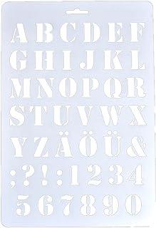Puran - Plantillas de letras huecas con número de alfabeto para pintar álbumes de recortes,