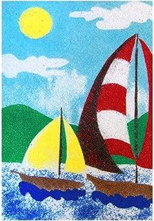 Sandtastik Preschool Craft Peel N Stick Sand Art Board #16 - Sailing in The Wind