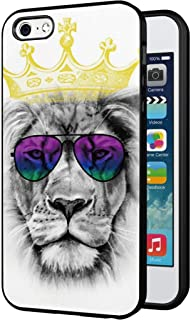 iPhone 5S Black Case, Customized Black Soft Rubber TPU Cool Style Design 3D Printing Scratch-Resistant Thin Flimsy Case For iPhone 5S Case Black The Lion King