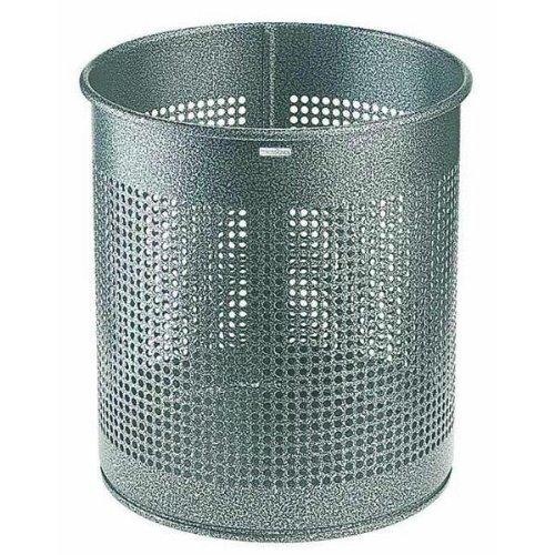 Rossignol Atlanta Corbeille à papier métal ajourée 15 litres Gris martele