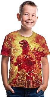 CHOICE99 Boys Cartoon Monster Shirt Kids t-Shirt 3D Printing Shirt for boy Girl Summer Tops tee