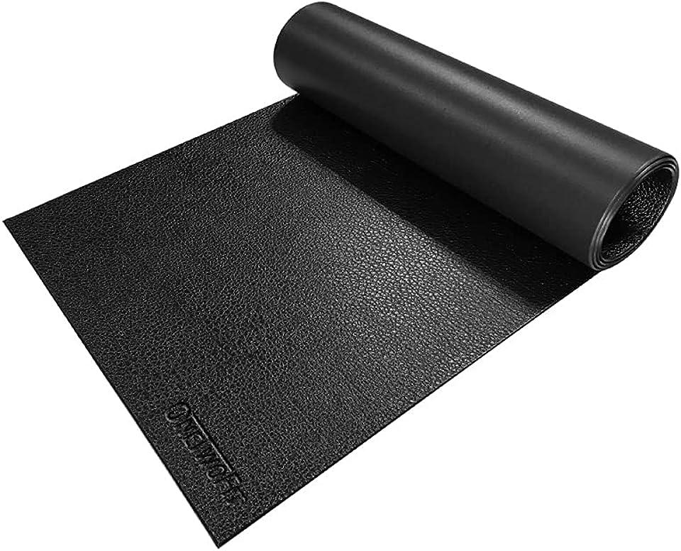 ONETWOFIT Exercise Equipment Mat,Treadmill Mat,Exercise Bike Mat,Fitness Mat,Elliptical Mat,Non-slip Shock Resistant Floor Protector Mat for Gym Equipment,Heavy Duty PVC Floor Protection Mats
