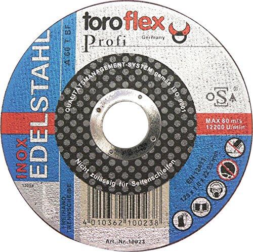 Toroflex Trennscheibenset 10TGL. 125x 1,0mm Inox Progress Edelstahl Profi
