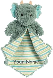 Ebba Personalized Magical Dragon Jaxon Luvster Plush Blanket for Baby Boy or Baby Girl with Custom Name - 14 Inches