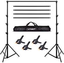 10ft Backdrop Stand - UTEBIT Photography Background Holder Collapsible Adjustable 2.8x3m (H X W) Heavy Duty Backdrops Crossbar Support System Kit for Photo Video Studio Shooting