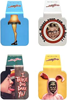"""Ata-Boy A Christmas Story Set of 4 1"""" Magnetic Page-Top Bookmarks"""