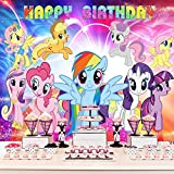 My Little Pony Backdrop Birthday Party Supplies Photography Backdrops Birthday Banner Rainbow Stars Cartoon Princess Girls Party Decoration Background Photography Studio Props