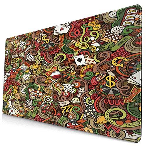 TARTINY Alfombrilla de ratón Impresión Colorida del Bingo del Arte del Estilo...