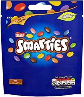 Original Smarties Pouch Bag Love to Share Smarties Chocolate Smarties Pouch Imported from the UK England British Chocolate Candy British Candy