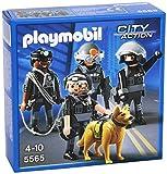 PLAYMOBIL Policía - Equipo de Unidad Especial, playset (5565)