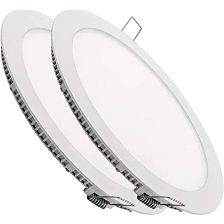 Pack 2x LED Downlight Round Extra-Flat Panel 18 W. Couleur Blanc Froid (6500K) 225 mm. 1600 lumens.