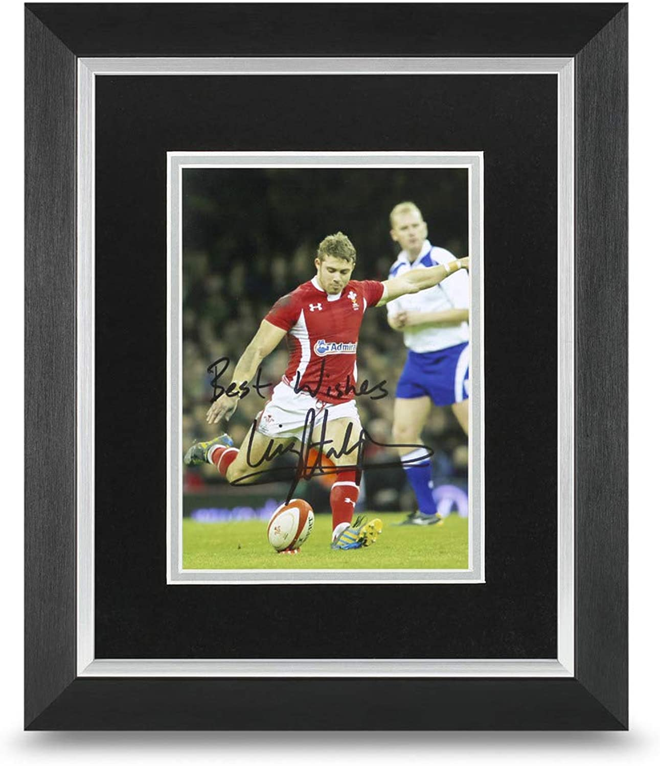 Leigh Halfpenny Signed 10x8 Framed Photo Display Rugby Autograph Memorabilia