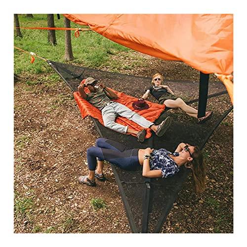 Hamaca gigante para acampar aérea, malla transpirable al aire libre, hamaca triangular para playa, patio trasero, jardín, campo