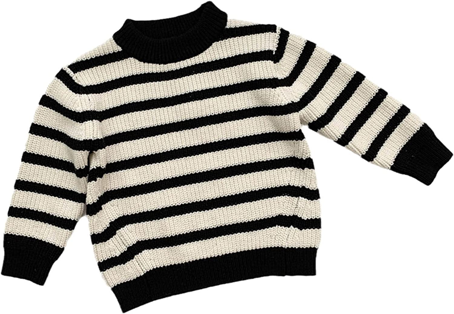 Yiqinyuan Fashion Autumn Winter Girls and Boys Sweaters Round Neck Knitwear Striped Sweater Children Clothing Sweaters