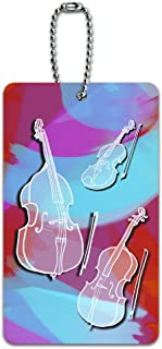 String Instruments Band Orchestra Violin Cello Bass ID Tag Luggage Card Suitcase Carry-On