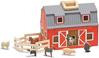 Melissa Unisex and Doug Wooden Fold Go Barn Set No Color One Size