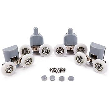 Rodamientos dobles para mamparas de ducha, Lance Home 27mm de diámetro, piezas de repuesto para ruedas de baño, 8 unidades: Amazon.es: Bricolaje y herramientas