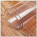 Mantel de 2 mm, resistente y transparente, de PVC, lavable, impermeable, protector de mesa de plástico, para almohadillas de escritorio, alfombrillas de comedor, pestañas A-90 x 150/3 x 59 pulgadas