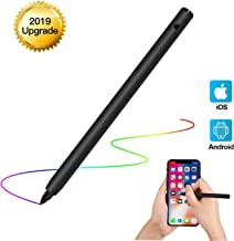 RICHKC2019 Rechargeable Active Stylus Digital Pen with Adjustable Fine Tip for Accurate Writing/Drawing on iPhone/iPad/Samsung/Surface/Android Touchscreen, Smartphones, Tablets, Notebooks. (Black)