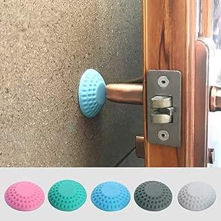Misszhang-US 10Pcs Silicone Door Handle Knob Buffer Guard Silencer Wall Protectors Crash Pad Pink