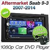 TUNEZ® 7 Zoll Doppel Din Auto DVD CD USB MP3 MP4 Player Kompatibel Mit Saab 9-3 93 2007-2014 Stereo Radio Blende Facia ISO Kit Full High Definition (FHD)