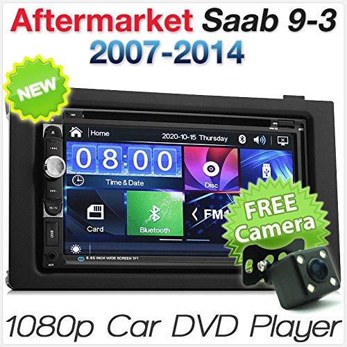 TUNEZ® 7 Pouces Double Din Car Audio Head Unit CD DVD USB Lecteur SD Compatible avec Saab 9-3 Car 2007 2008 2009 2010 2011 2012 2013 2014 USB MP3 Radio Stéréo Fascia Fascia ISO Kit